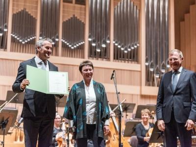 Markus Poschner, Ursula Brandstätter, Thomas Stelzer